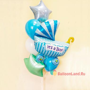 Букет воздушных шаров на выписку сыночка из роддома