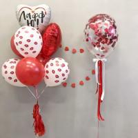 Милая композиция из воздушных шаров Люблю тебя к 14 февраля