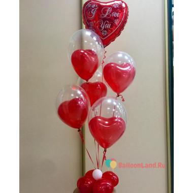 Букет из гелиевых шаров I love you, для влюбленных