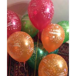 Воздушные шары С днем Рождения! металлик - дополнительное фото #2