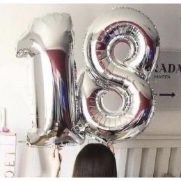Композиция из шаров Серебряные 18 лет - дополнительное фото #2