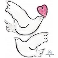 Фигурный шар Любящие голуби