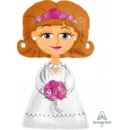 Ходячий шар Невеста в белом платье