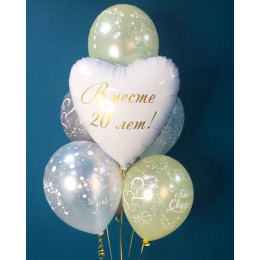 Букет шаров на юбилей свадьбы