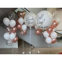 Композиция из гелевых шаров для фотосессии в день свадьбы