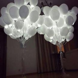 Композиция из шаров светящихся на свадьбу