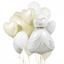Сет из шаров на свадьбу с платьем невесты