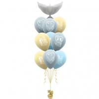 Фонтан из шариков свадебный с голубем