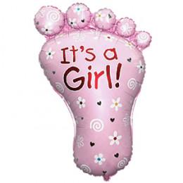 Фигурный шар Розовая ножка