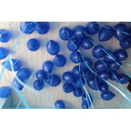 Воздушные латексные шары синие - дополнительное фото #2