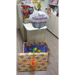 Фигурный шар Фигурный шар Тортик С Днем рождения - дополнительное фото #1