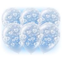 Воздушные шары Сердечки прозрачные - дополнительное фото #1