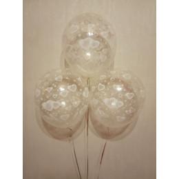 Воздушные шары Сердечки прозрачные - дополнительное фото #2