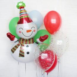 Набор шариков с обаятельным Снеговиком