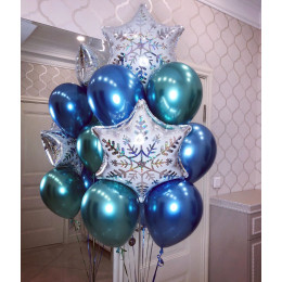 Букет шариков Новогоднее волшебство