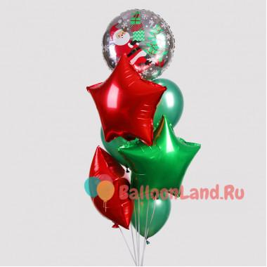Букет из гелиевых шариков Рождественский