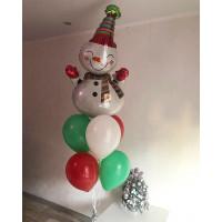 Фонтан из шаров Снеговичек