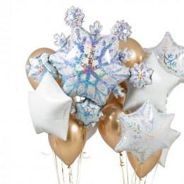 Сет из шариков Снежинки