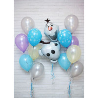 Композиция из шариков со снеговичком Олафом