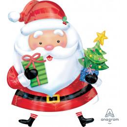 Фигурный шар Санта с ёлкой