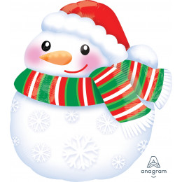 Фигурный шар Снеговик с шарфом