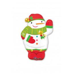 Фигурный шар Веселый Снеговик