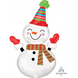 Фигурный шар Улыбчивый Снеговик