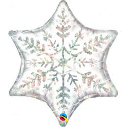 Фигурный шар Белая Снежинка