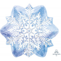 Фигурный шар Голубая Снежинка