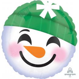 Шар-круг Смайлик-снеговик