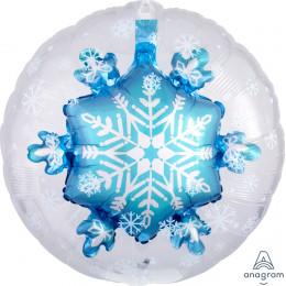 Шар-сфера Синяя Снежинка