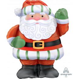 Фигурный шар Санта