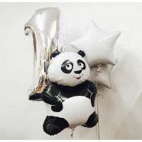 Сет шаров на День Рождения с пандой и цифрой