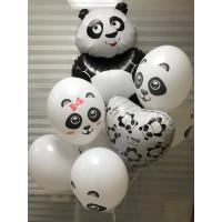 Букет воздушных шаров с пандой