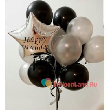 Букет шаров на День Рождения с вашими поздравлениями