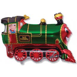 Фигурный шар Зеленый паровозик