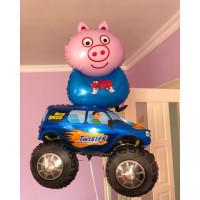 Набор шариков Поросенок Джордж, братик свинки Пеппы и внедорожник