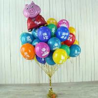 Букет из шариков Свинка Пеппа