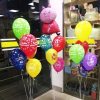 Композиция из шаров со Свинкой Пеппой на День Рождения