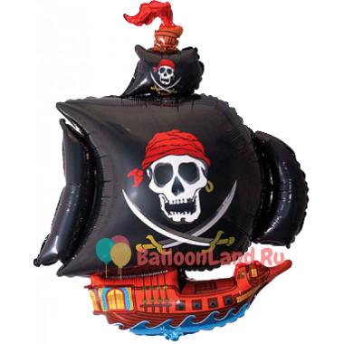 Фигурный шар Пиратский корабль с чёрными парусами