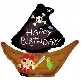 Фигурный шар Пиратская лодка