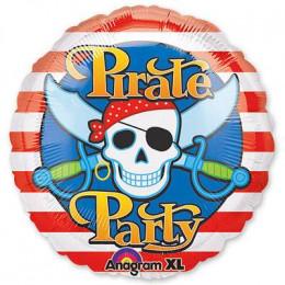 Шар-круг Пиратская вечеринка (веселый Роджер)
