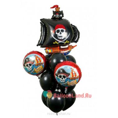 Букет из шариков в пиратском стиле на День Рождения
