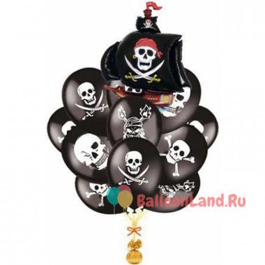 Букет шариков Черные Пираты