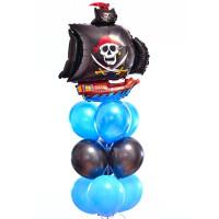 Фонтан из воздушных шаров Пиратский Корабль