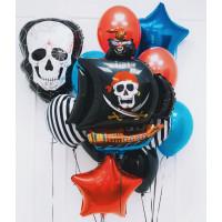 Набор шаров Пиратский корабль с черепом и звездами