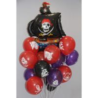 Букет гелевых шариков Пираты на Корабле