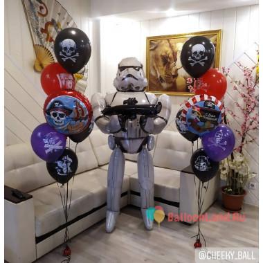 Композиция из воздушных шариков Пиратская Вечеринка со Штурмовиком