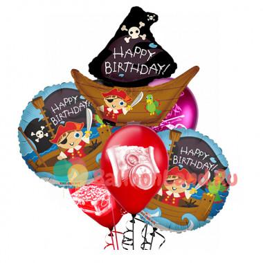 Букет гелевых шаров юному пирату на День Рождения