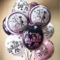 Букет из воздушных шариков подруге, с парижским шармом